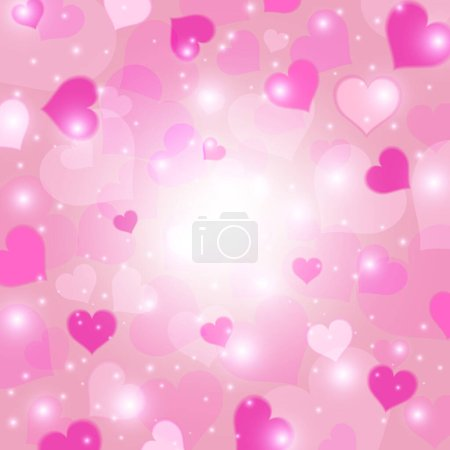 Illustration for Pink heart background. Love texture. Valentine's day concept. Vector illustration. - Royalty Free Image