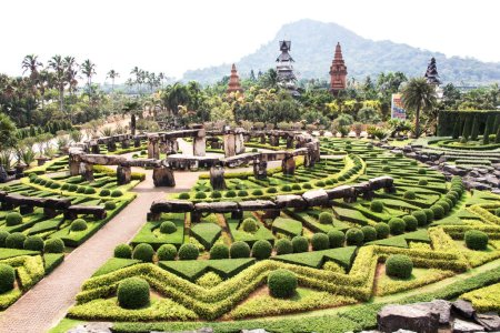Photo for Beautiful garden at Nongnuch park Thailand - Royalty Free Image