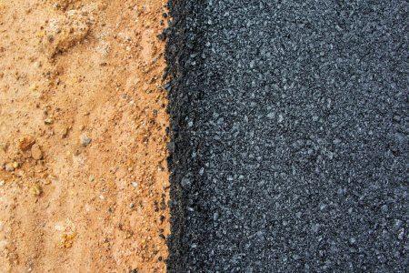Photo for New asphalt on the road - Royalty Free Image