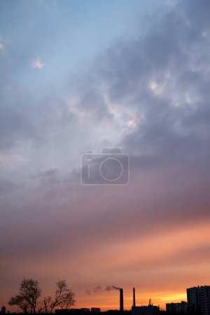Photo for Twilight sunset sky with clouds - Royalty Free Image
