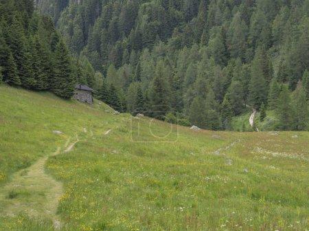 Photo pour Trek et randonnée dans le Trentin vers le lac d'erdemolo - image libre de droit