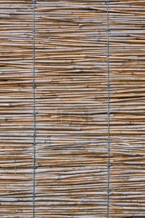 close up texture of rug made of bamboo sticks