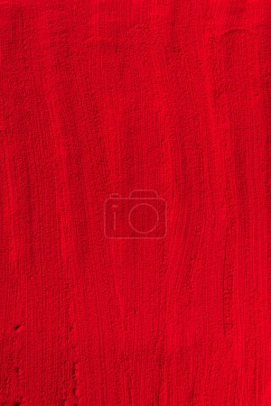 elevated view of red powder template