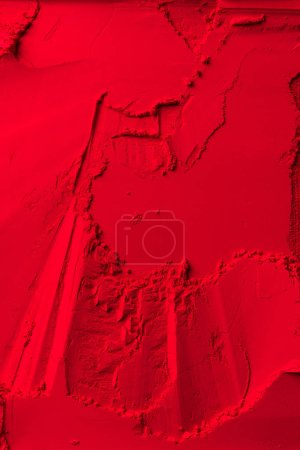 top view of red powder background