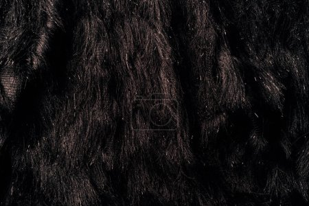 Foto de Vista superior de textil marrón peludo como fondo - Imagen libre de derechos