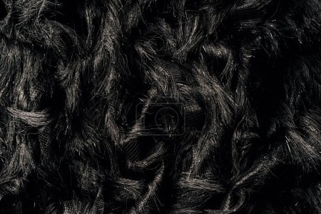Photo for Top view of furry black textile as background - Royalty Free Image