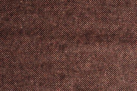 Photo pour Vue de dessus du textile marron comme toile de fond - image libre de droit