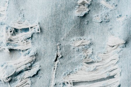 top view of blue denim textile as background