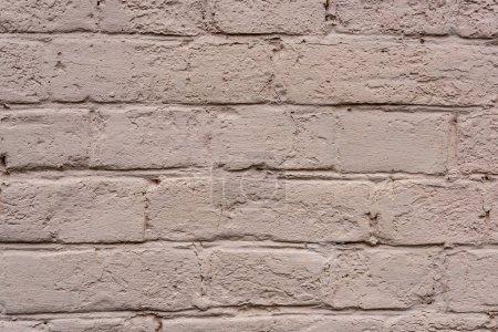 full frame image of white brick wall background