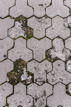 full frame image of paving stone path background
