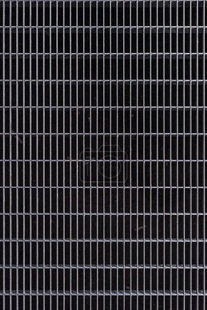 image plein cadre de fond de la cage de métal gris