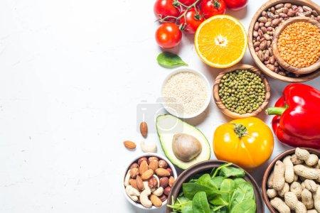 nourriture végétalienne saine .