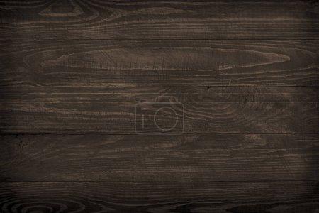 Photo pour Fond en bois. Texture bois foncé surface horizontale vide. Espace pour le design . - image libre de droit