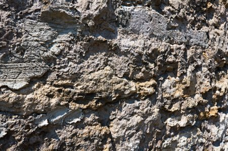 Photo for Pattern gray color of old style design stone wall surface with cement - Royalty Free Image