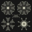 Set of four vector Celtic patterns. Magic ornament...