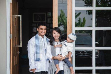 muslim family eid mubarak