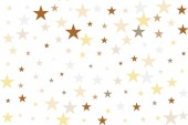 Seamless pattern golden stars fly Gold sparkling background with star dust isolated on white Vector Illustration Design