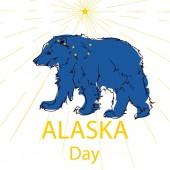 Happy Alaska Day festive concept