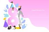 International Womens Day vector banner template