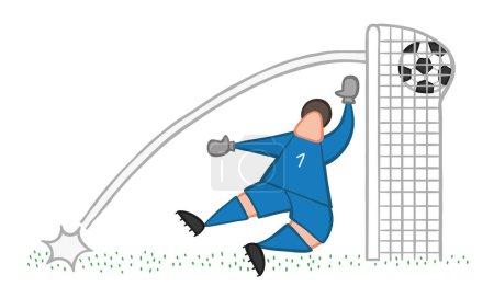 Vector illustration cartoon soccer player man