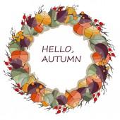 Frame autumn leaves