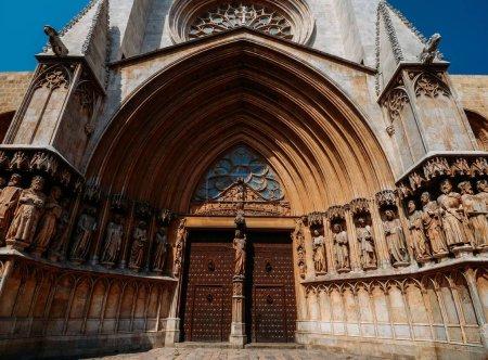 Katedra w Tarragonie w Katalonii, w Hiszpanii. Romansque 12 wieku i stylu neogotyckim