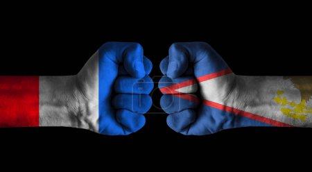 Photo pour France vs American samoa - image libre de droit