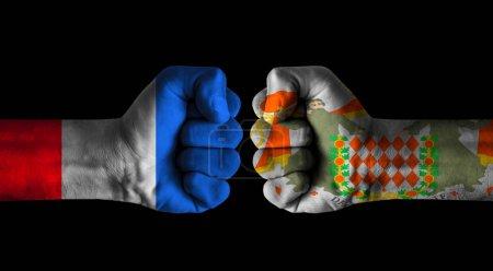 Photo pour France vs Blason de Monaco - image libre de droit