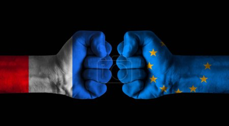 Photo pour France vs Europe concept - image libre de droit