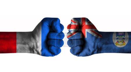 Photo pour France vs falkland islands - image libre de droit