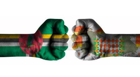 Photo pour Dominica vs Blason de Monaco - image libre de droit