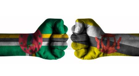 Photo pour Dominica vs Brunei concept - image libre de droit