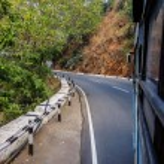 Mountain road to Balaji temple at Tirumala hill. T...