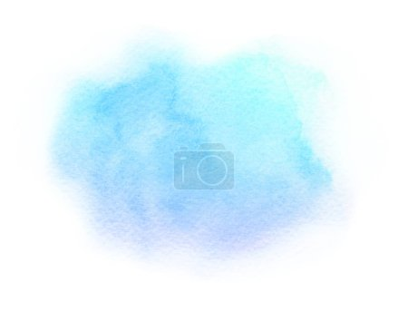 Photo for Watercolor artistic abstract hand drawn blue violet gradient brush stroke isolated on white background. Useful for design of greeting cards, wedding invitations, cards, banners. - Royalty Free Image