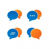 Colorful bubble chat icon pack vector design eps10