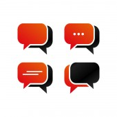 Rounded rectangle bubble chat icon template pack