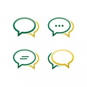 Oval bubble chat pack vector design eps10