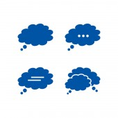 Cloudy bubble chat icon pack vector design eps10