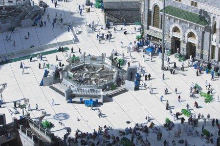 Pilgrims in Al-Masjid Al-Haram Around Al-Kaaba in Mecca, Saudi Arabia