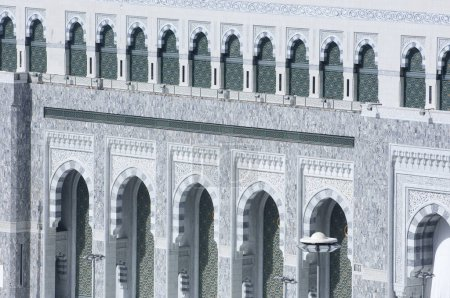 Facade of Al Haram of Al Kaaba in Mecca Saudi Arabia