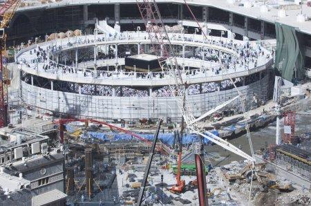 Construction of Al-Masjid Al-Haram Around Al Kaaba in Mecca, Saudi Arabia