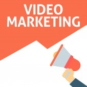 Hand Holding Megaphone With VIDEO MARKETING Announcement