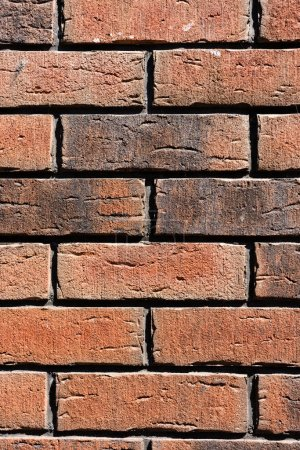 Photo for Close-up view of brown weathered brick wall background - Royalty Free Image