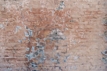 full frame view of old weathered brick wall background