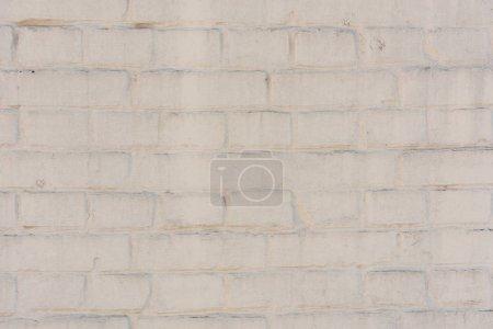 Photo pour Mur de briques blanches vides fond texturé - image libre de droit