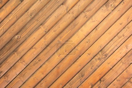 close-up view of brown empty wooden background with planks