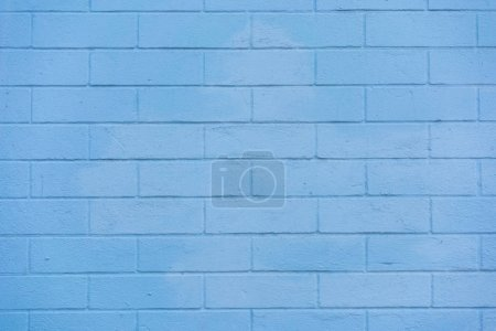 Photo for Full frame view of blue brick wall textured background - Royalty Free Image