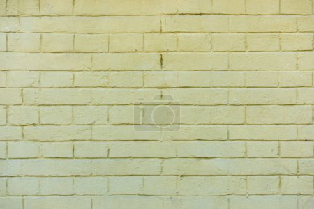 old white brick wall background, full frame view