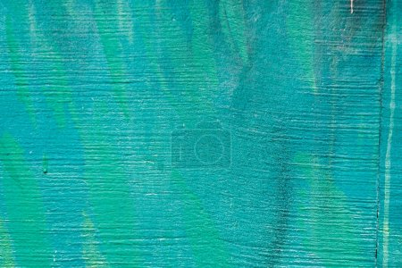 Photo for Close-up view of weathered turquoise wall background - Royalty Free Image