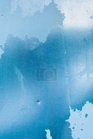 old blue weathered wall abstract textured background